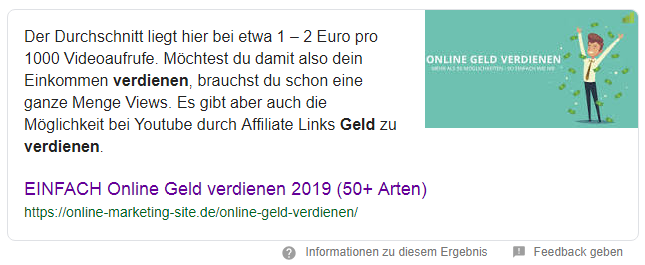 Featured Snippet Google